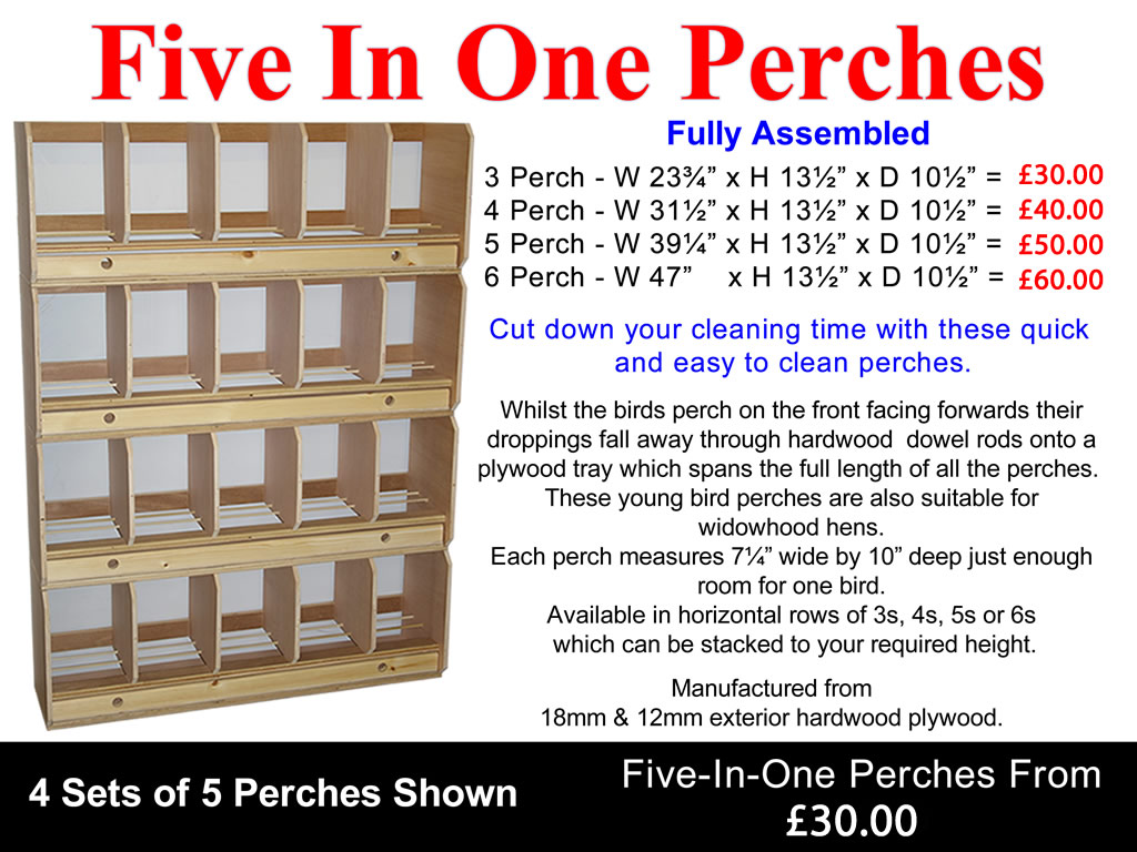 Five-In-One Perches