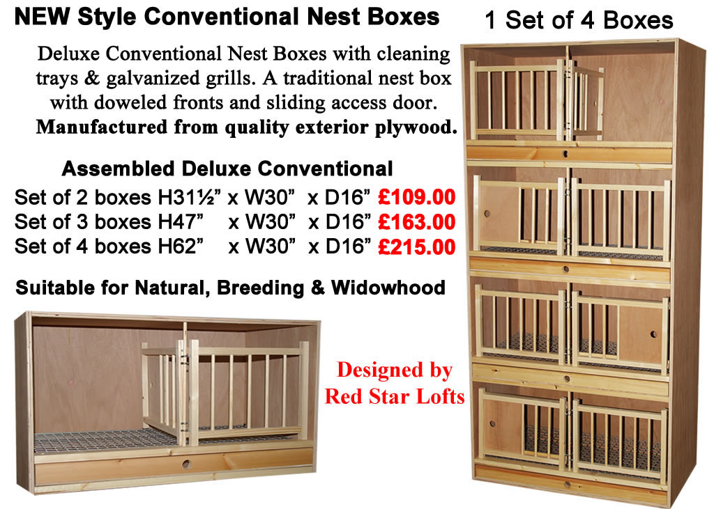 Deluxe Conventional Widowhood Nest Boxes